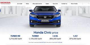 Giá xe Civic 2022 bán lẻ đề xuất