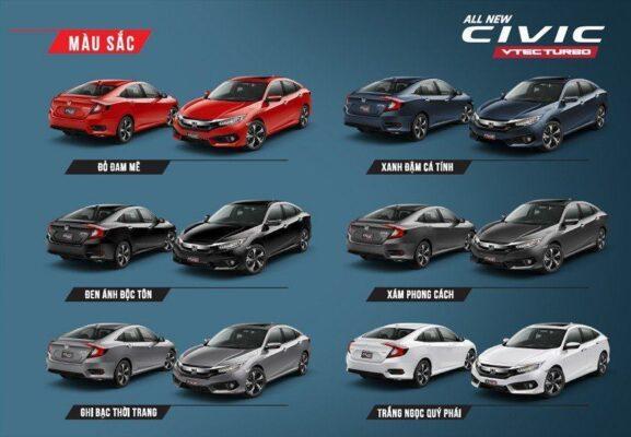 các mẫu xe Honda Civic
