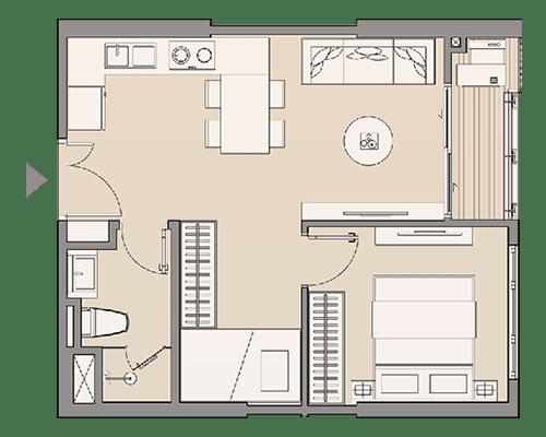 Căn hộ studio 25- 27 m2 & Căn hộ studio 31 m2